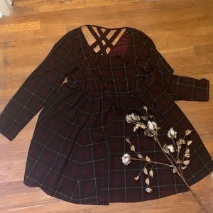 Fit and flare plaid dress